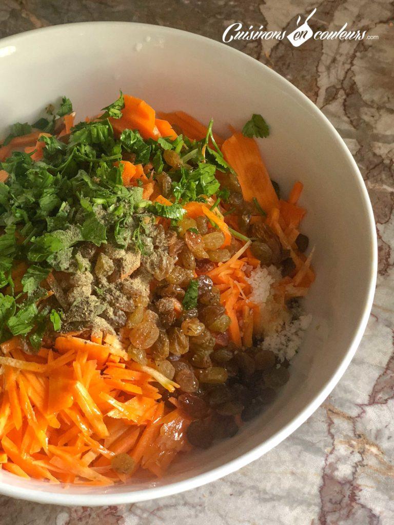 carottes-raisins-secs-2-768x1024 - Salade de carottes aux raisins secs
