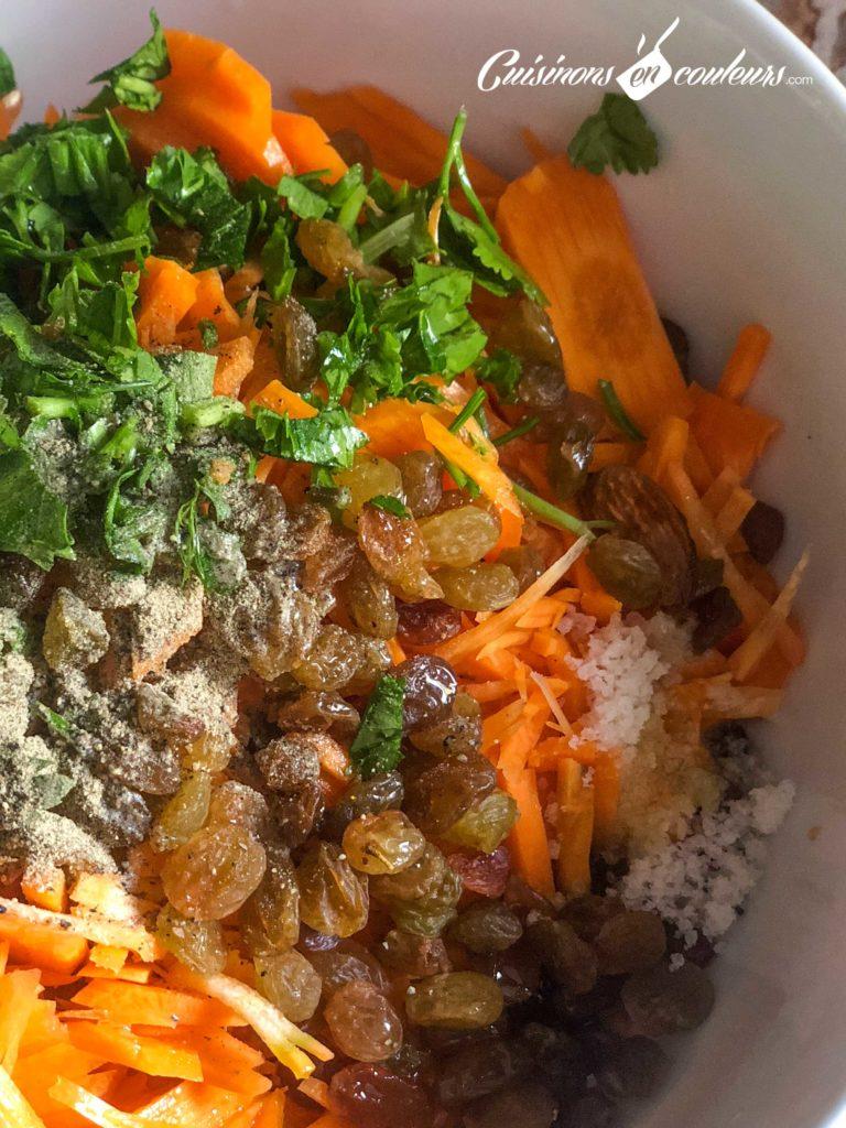 carottes-raisins-secs-768x1024 - Salade de carottes aux raisins secs