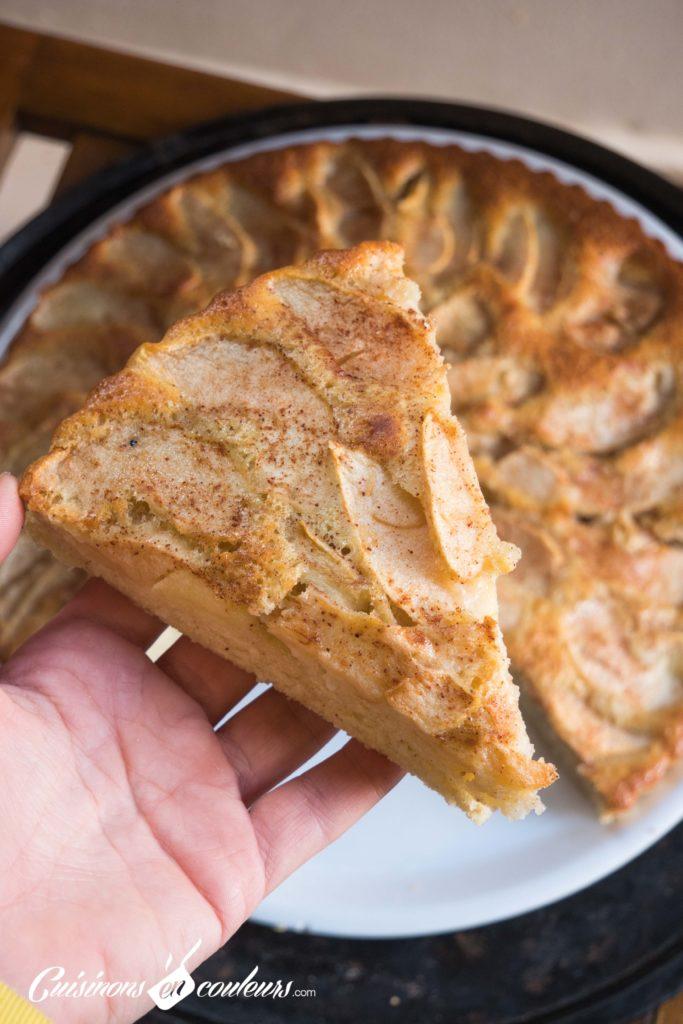 gateau-aux-pommes-3-683x1024 - Gâteau aux pommes TRÈS FACILE