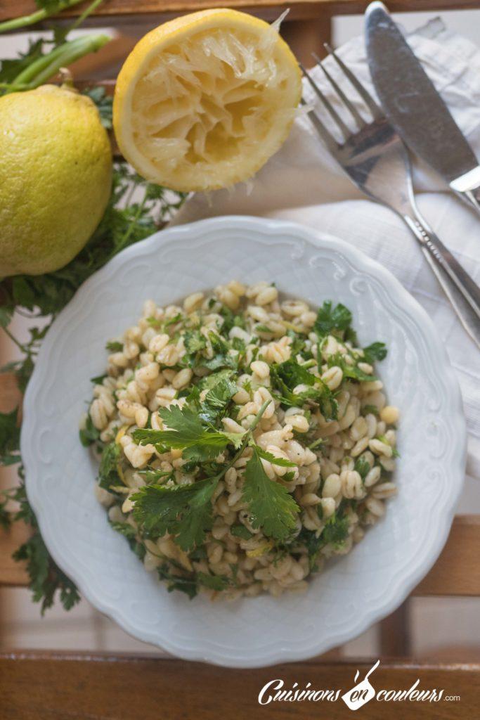 salade-ble-dur-citron-7-683x1024 - Salade de blé dur au citron et aux herbes