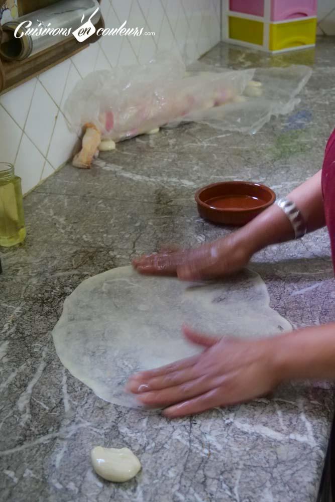 Rziza-maison-2 - Msemen, Mlaoui et Rziza, la recette FACILE et INRATABLE avec UNE SEULE PÂTE et les 3 techniques de pliage