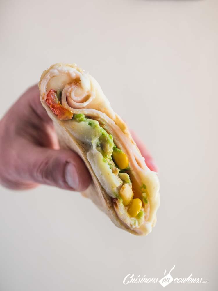 Tacos-Emmental-jambon-3 - Burritos à l'Emmental et au jambon de dinde