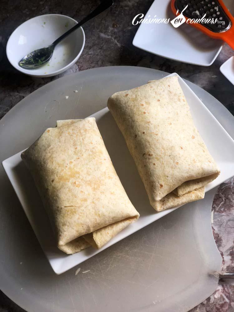 Tacos-Emmental-jambon-7 - Burritos à l'Emmental et au jambon de dinde