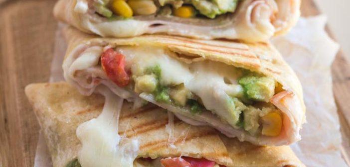 Burritos à l'Emmental et au jambon de dinde