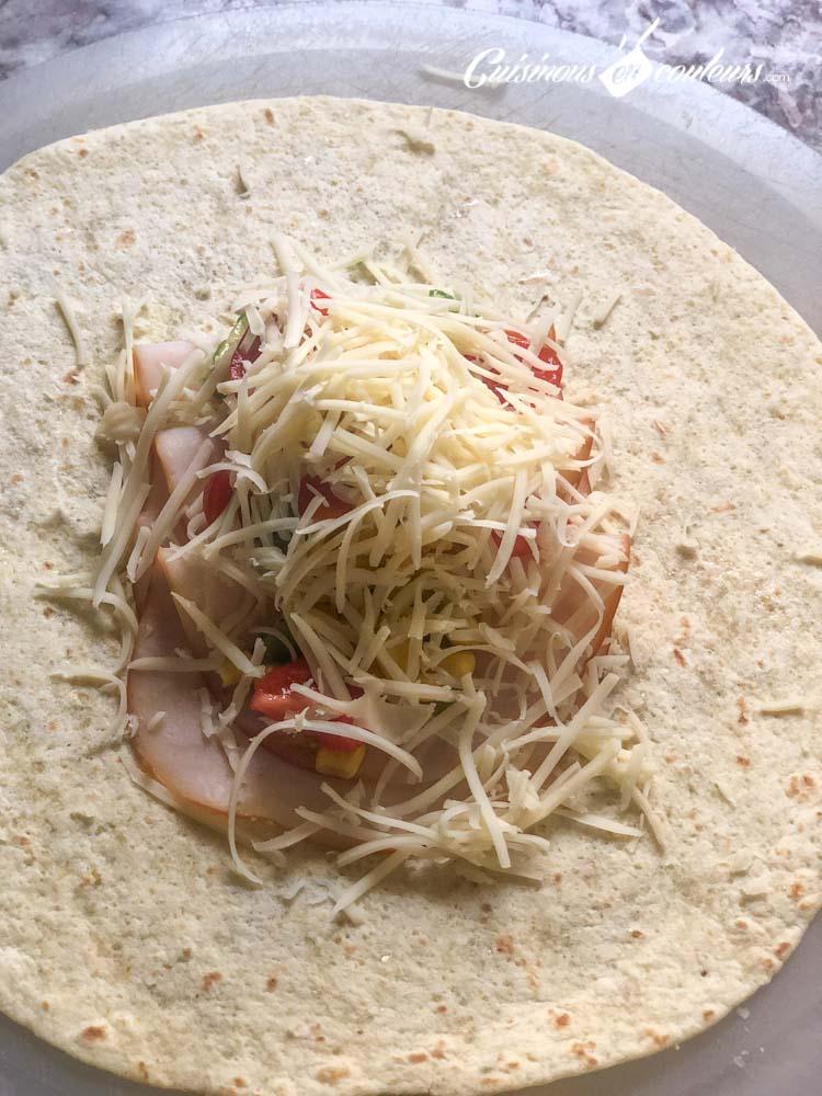 Tacos-Emmental-jambon-8 - Burritos à l'Emmental et au jambon de dinde