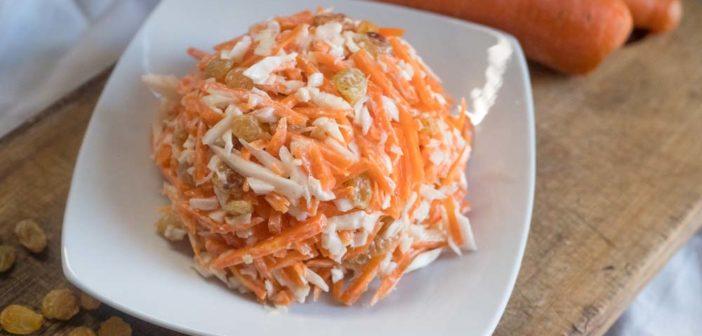 Coleslaw à la vanille (salade de carottes et chou blanc)