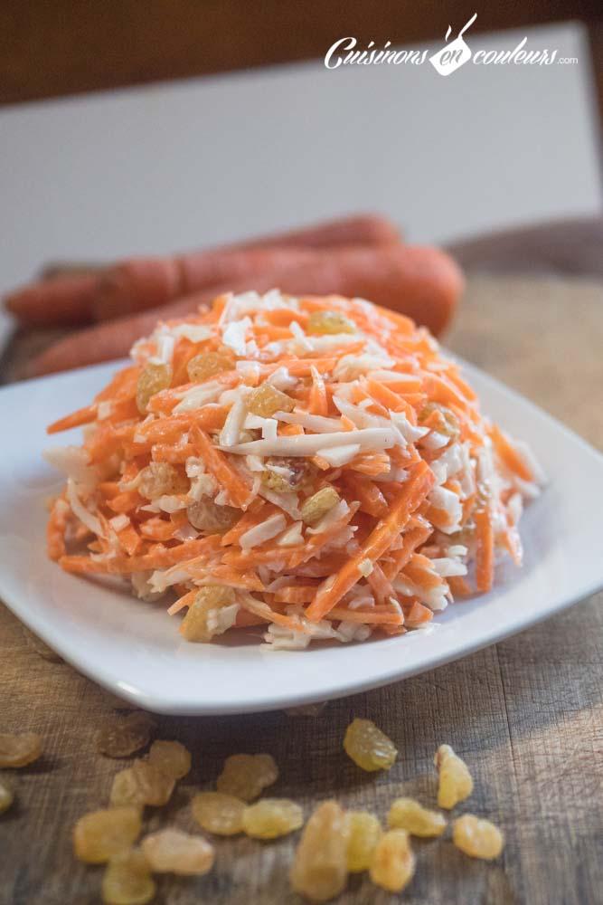 coleslaw-vanille - Coleslaw à la vanille (salade de carottes et chou blanc)