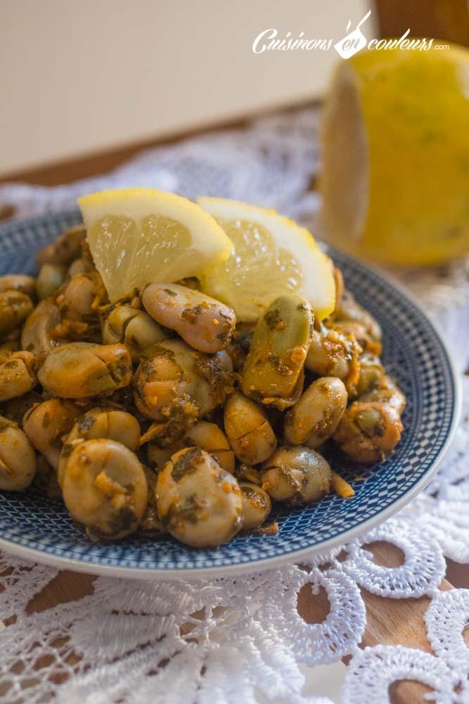 foul-mchermel-4 - Foul mchermel, les fèves à la chermoula