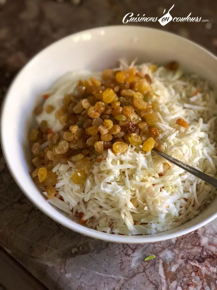 Coleslaw-allegee - Coleslaw à la vanille (salade de carottes et chou blanc)
