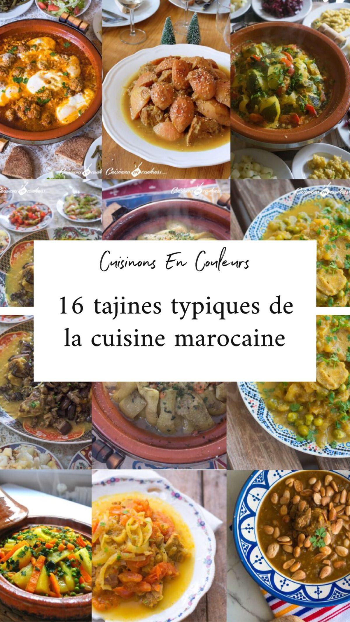 Cuisine marocaine  12 recettes de tajines typiques de chez moi     Cuisinons En Couleurs