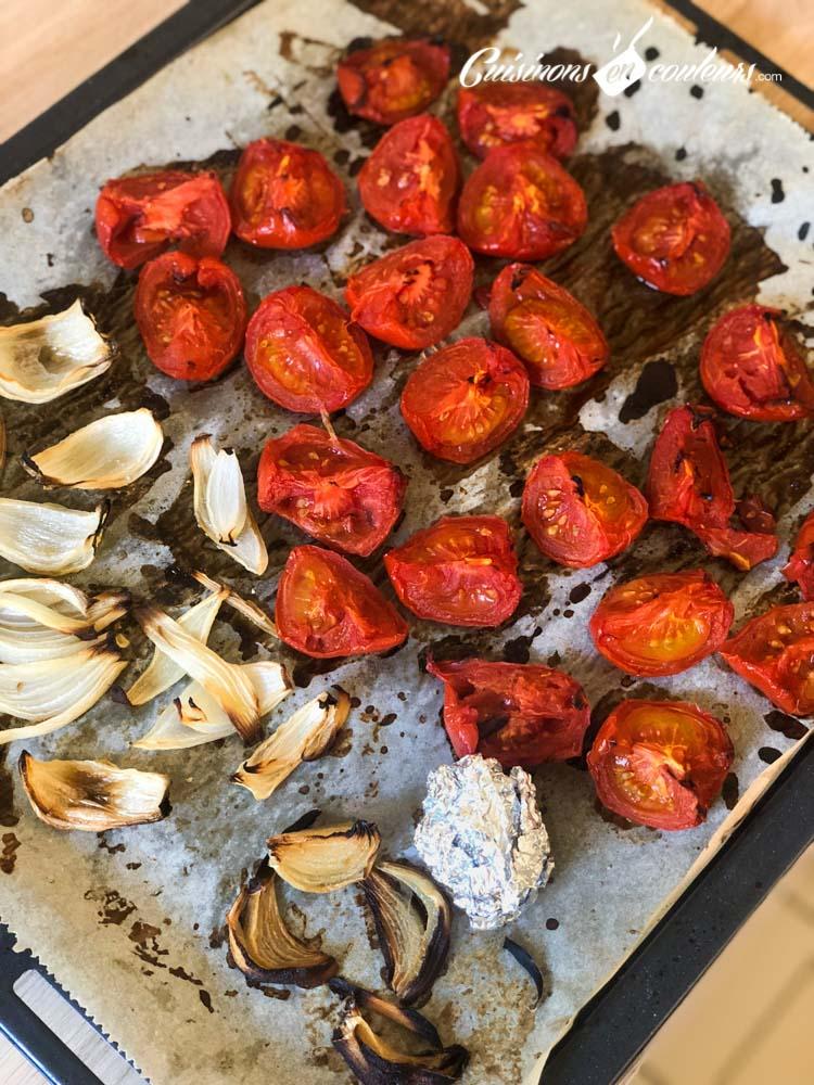 Soupe-froide-de-tomates-et-oignons-rôtis-3 - Soupe froide de tomates et oignons rôtis