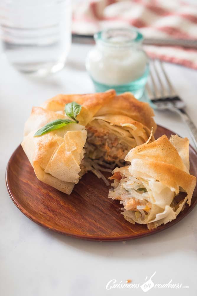 pastilla-a-la-truite-15 - Pastilla à la truite fumée, poireaux et tomates séchées