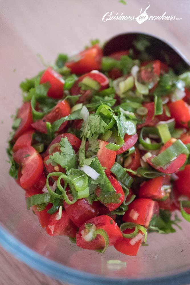 Salade-de-tomates-4 - Salade de tomates cerises à la coriandre