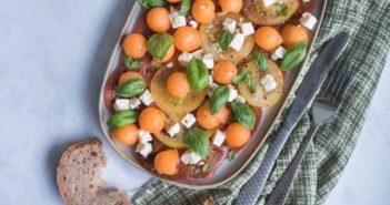 Salade-de-tomates-melon-351x185 - Cuisinons En Couleurs