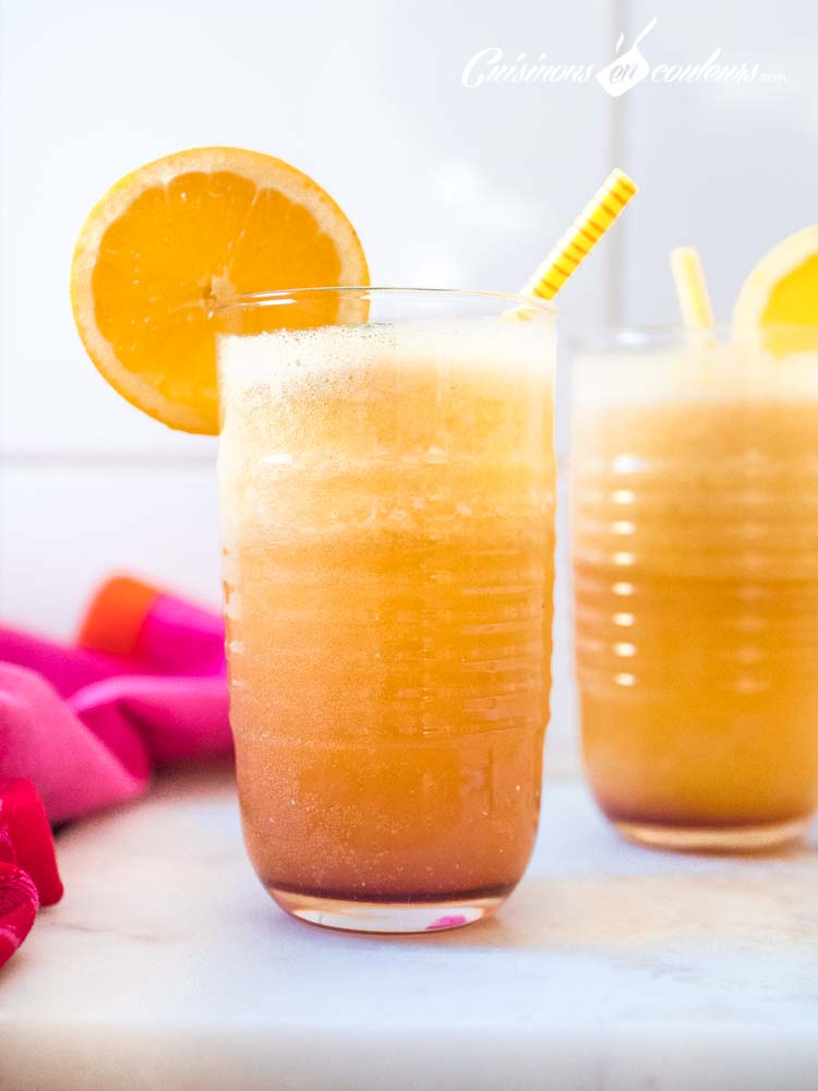 Cocktail-Sunrise - Sushine, cocktail aux oranges et à l'ananas