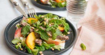 Salade d'agneau aux nectarines
