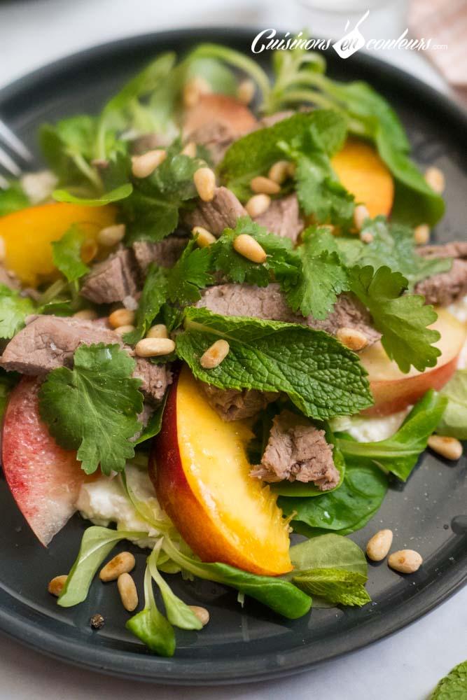 Salade-agneau-et-nectarines-4 - Salade d'agneau aux nectarines
