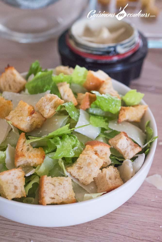 Salade-cesar-10 - Salade César maison, très facile
