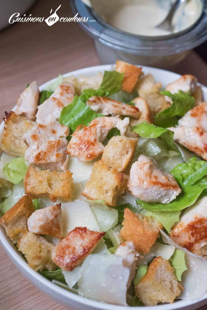 Salade-cesar-11 - Salade César maison, très facile
