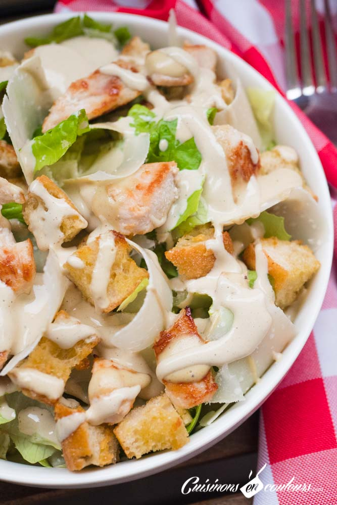 Salade-cesar-17 - Salade César maison, très facile