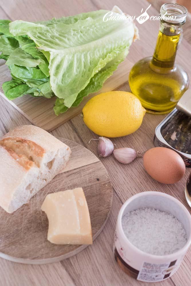 Salade-cesar - Salade César maison, très facile