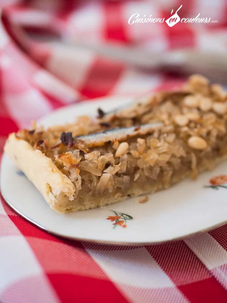 Tarte-aux-oignons-façon-pissaladière - Tarte aux oignons façon pissaladière