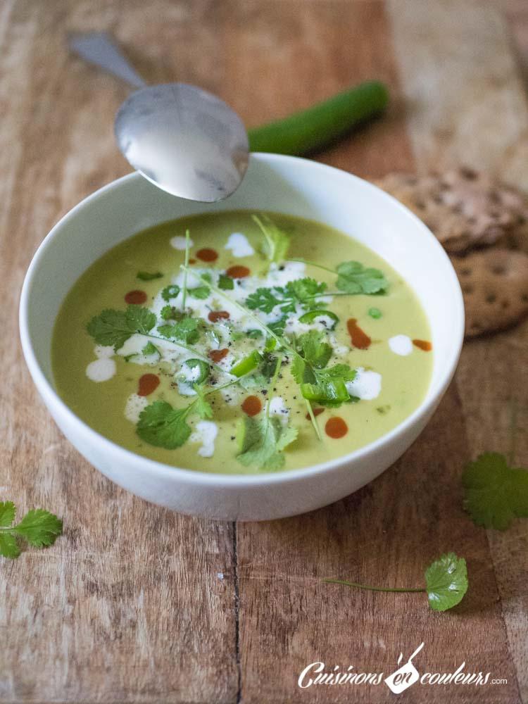gaspacho-de-petits-pois-lait-de-coco-5 - Soupe froide de petits pois au lait de coco et à la citronnelle