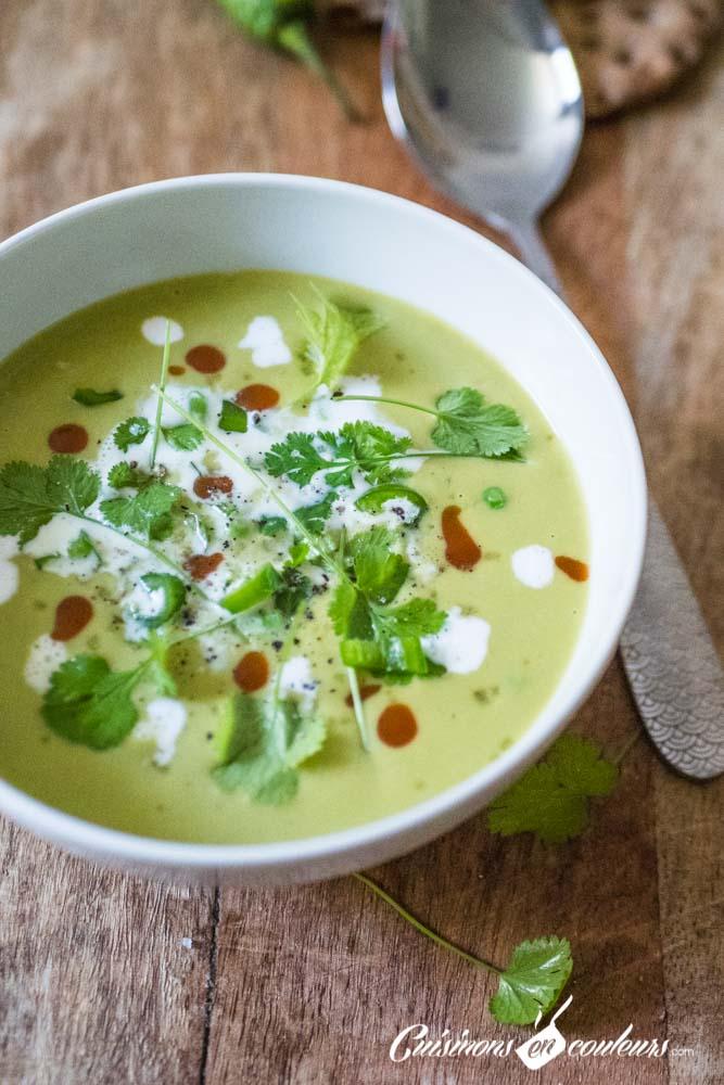 gaspacho-de-petits-pois-lait-de-coco-9 - Soupe froide de petits pois au lait de coco et à la citronnelle