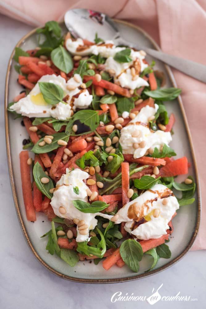 pasteque-burrata-2 - Salade de pastèque à la burrata