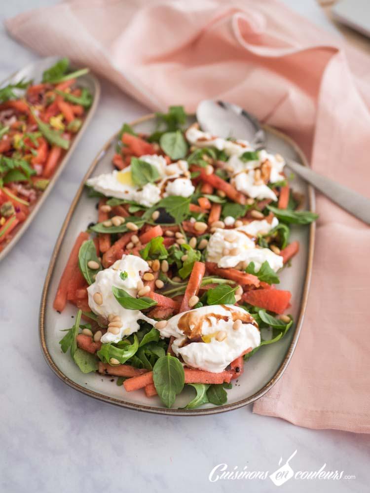pasteque-burrata-3 - Salade de pastèque à la burrata