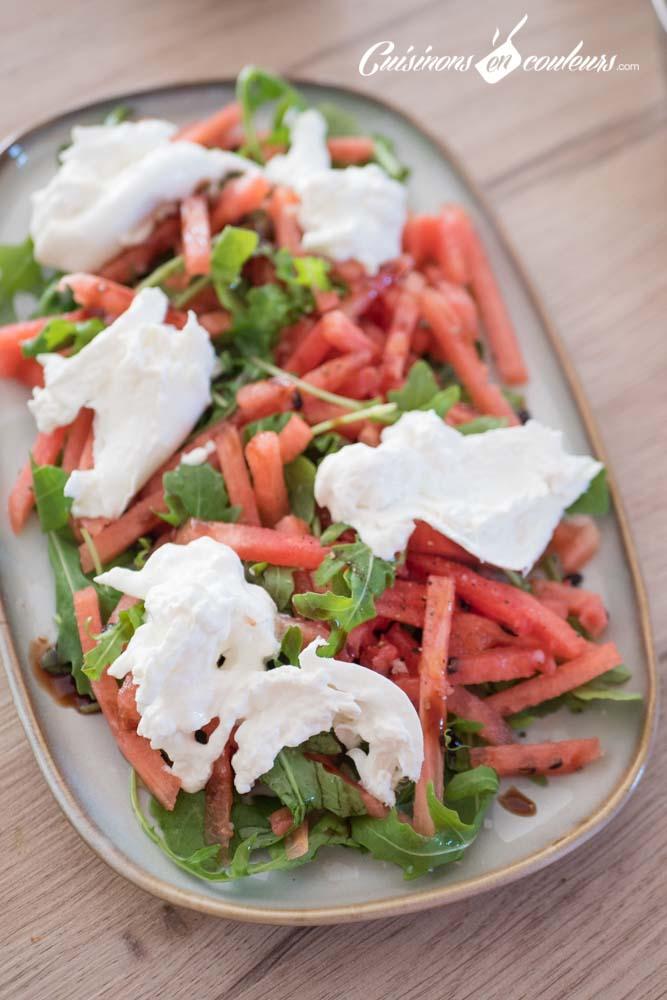 pasteque-burrata-4 - Salade de pastèque à la burrata