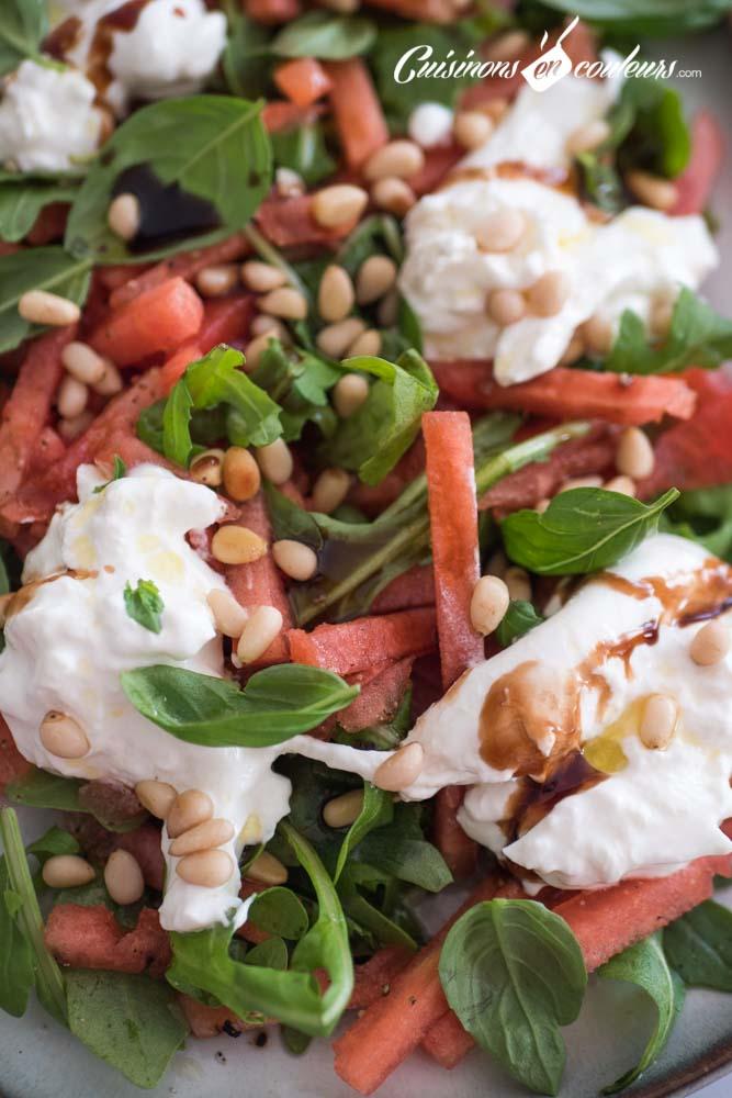 pasteque-burrata - Salade de pastèque à la burrata