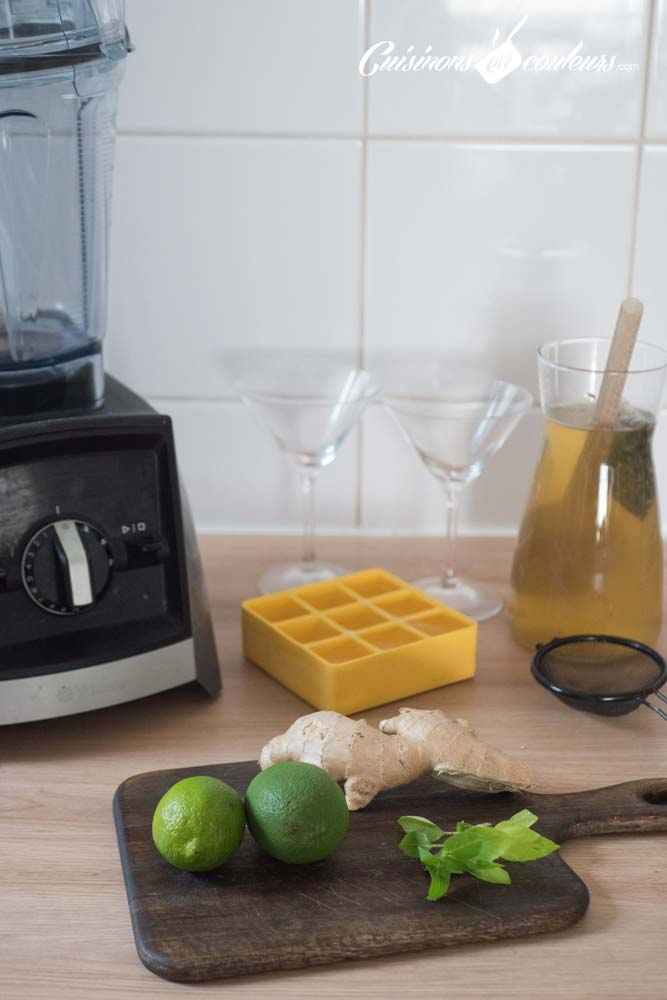 the-glace-citron-vert-basilic-gingembre-12 - Thé glacé au citron vert, gingembre et basilic