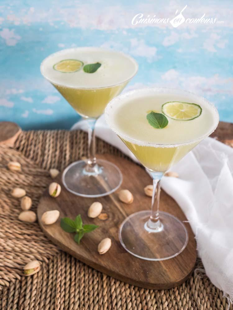 the-glace-citron-vert-basilic-gingembre-4 - Thé glacé au citron vert, gingembre et basilic