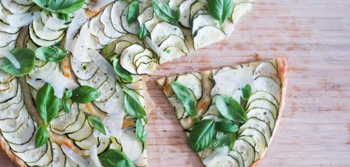 Tarte fine de courgettes au parmesan