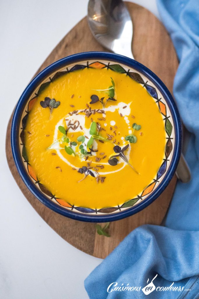 Soupe-carottes-cumin-683x1024 - Velouté de carottes et patate douce au cumin