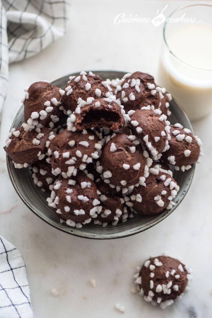 chouquettes-chocolat-4-683x1024 - Chouquettes au chocolat HYPER bonnes !