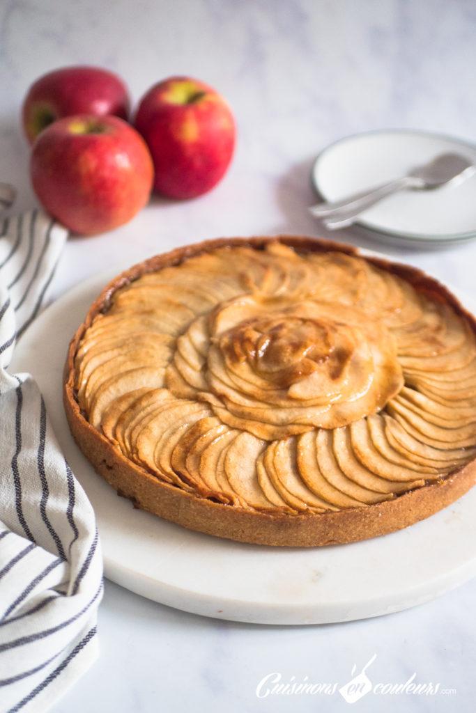 tarte-aux-pommes-2-683x1024 - Tarte aux pommes HYPER facile