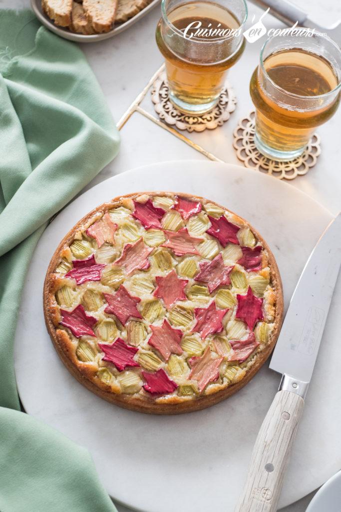 tarte-Zellig-a-la-rhubarbe-13-683x1024 - Tarte à la rhubarbe, motif Zellig