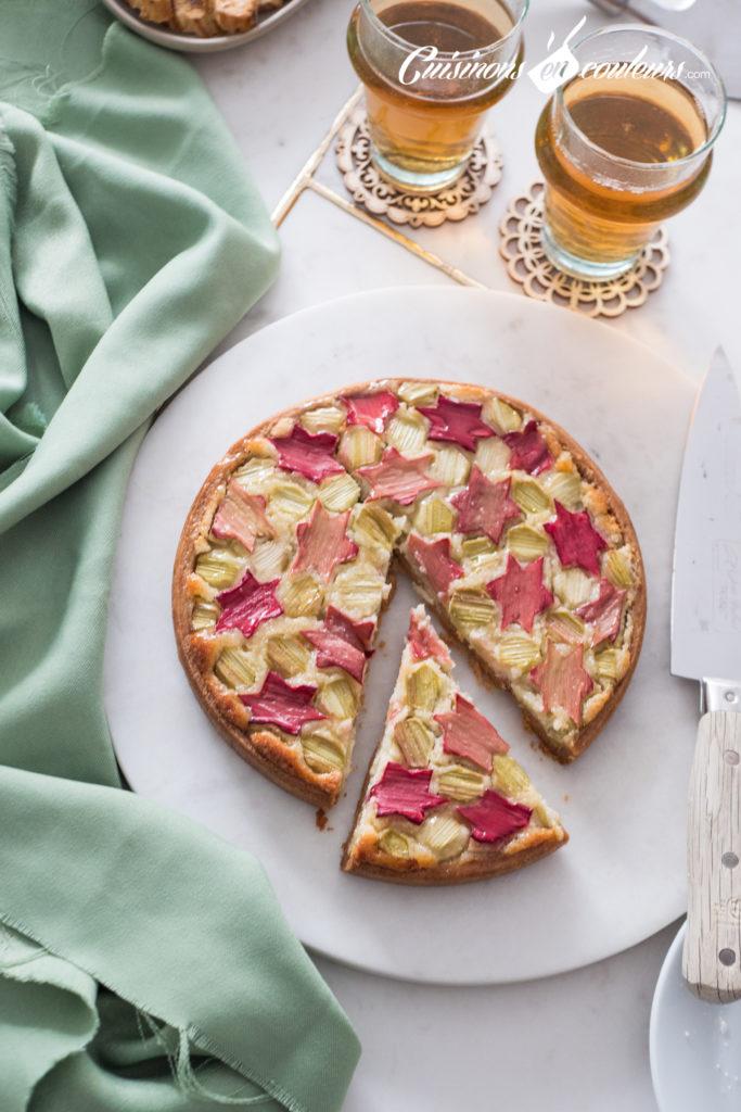 tarte-Zellig-a-la-rhubarbe-15-683x1024 - Tarte à la rhubarbe, motif Zellig