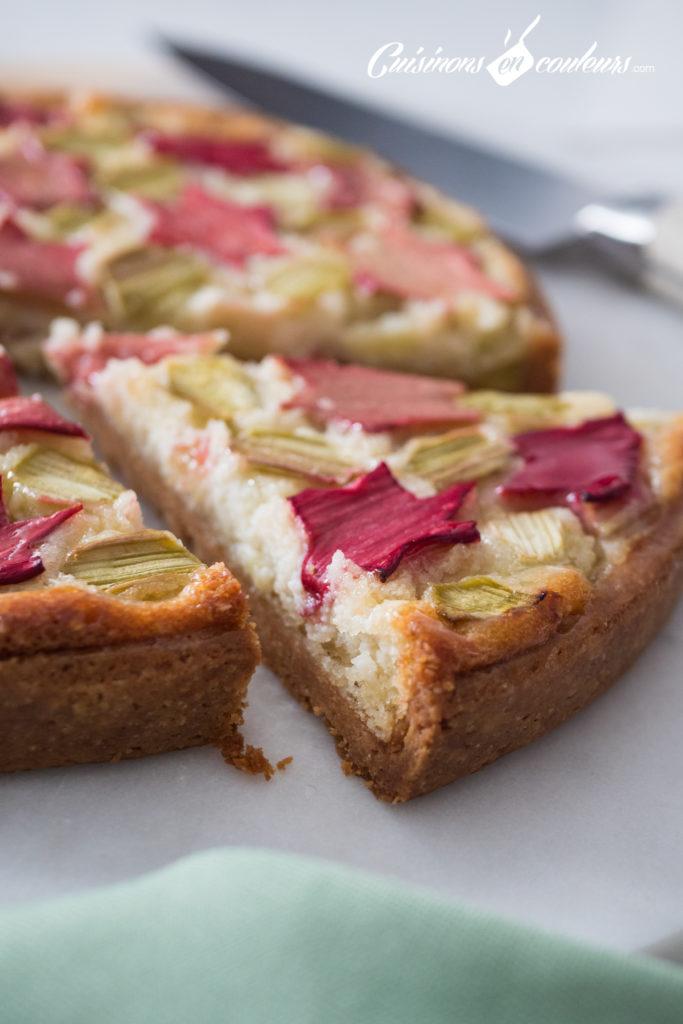 tarte-Zellig-a-la-rhubarbe-16-683x1024 - Tarte à la rhubarbe, motif Zellig