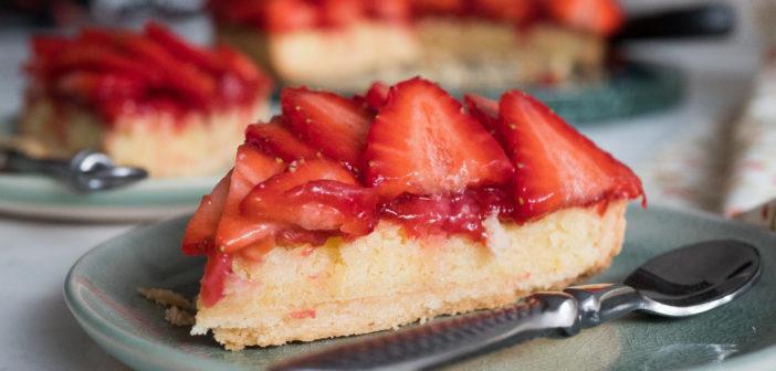 Tarte aux fraises et aux amandes