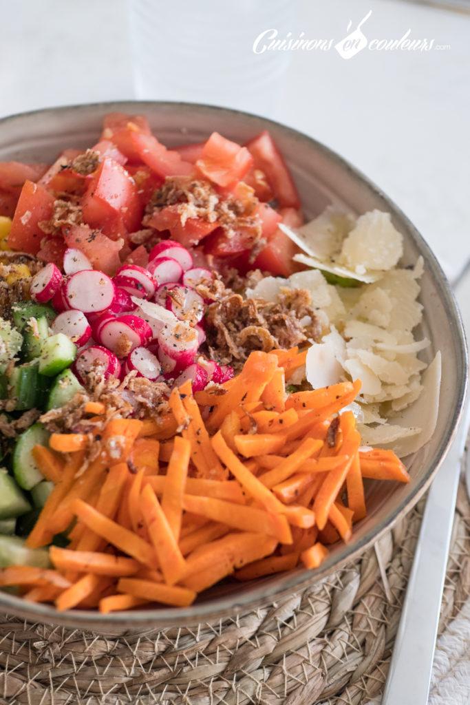 Salade-composee-10-683x1024 - Salade composée, appelée aussi Salad Bowl