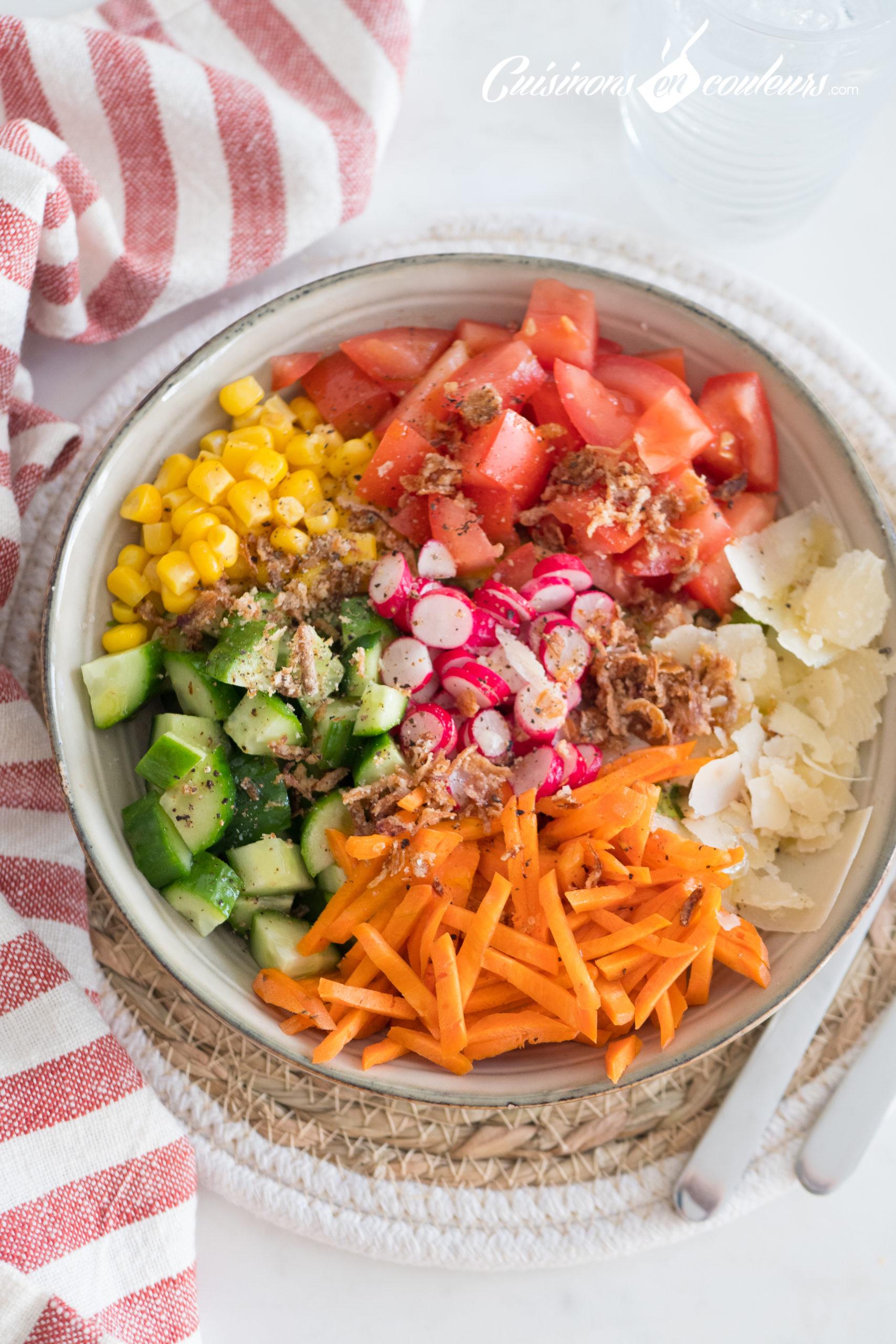Salade-composee-5-scaled - Salade composée, appelée aussi Salad Bowl