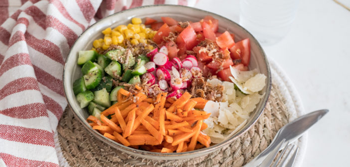 Salade composée, appelée aussi Salad Bowl