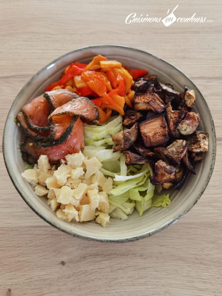 Salade-composee-Salad-bowl-11-768x1024 - Salad Bowl au saumon, aubergines rôties... et plein d'autres choses !