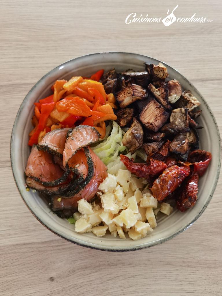 Salade-composee-Salad-bowl-12-768x1024 - Salad Bowl au saumon, aubergines rôties... et plein d'autres choses !