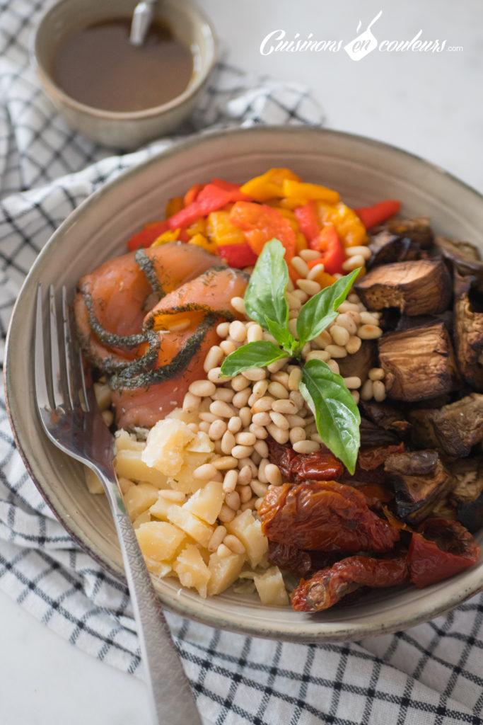 Salade-composee-Salad-bowl-4-683x1024 - Salad Bowl au saumon, aubergines rôties... et plein d'autres choses !