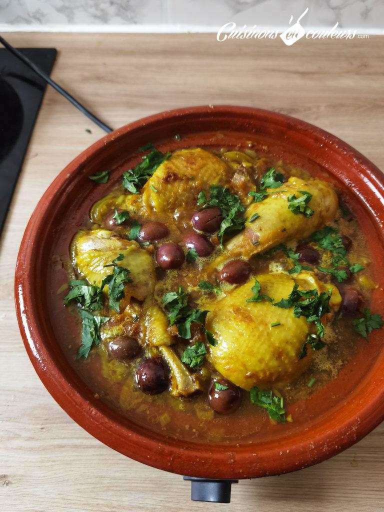 tajine-poulet-frites-12-768x1024 - Tajine de poulet mqualli aux olives et citron confit