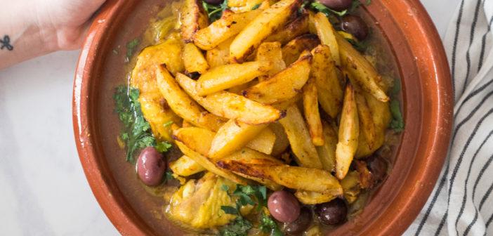 Tajine de poulet mqualli aux olives et citron confit